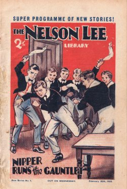 """Nipper - New Boy!"", The Nelson Lee Library 4th series No. 1 © Amalgamated Press 1933. Click to download"